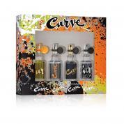 CURVE 4 PCS MINI SET FOR MEN: 15 ML * 4 PCS: CURVE + CURVE SPARK + CURVE BLACK + CURVE CRUSH