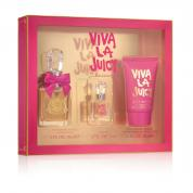 VIVA LA JUICY 3 PCS SET: 1 OZ EAU DE PARFUM SPRAY + 5 ML PARFUM + 1.7 BODY SOUFFLE (WINDOW BOX)