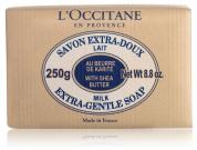 L'OCCITANE EXTRA GENTLE MILK SOAP WITH SHEA BUTTER 8.8 OZ
