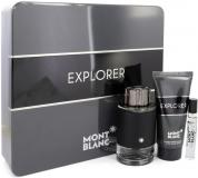 MONT BLANC EXPLORER 3 PCS SET: 3.3 EDP SP + 7.5 EDP SP + 3.3 AFTER SHAVE BALM