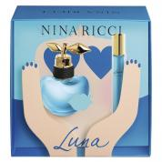 NINA RICCI LUNA 2 PCS SET FOR WOMEN: 1.7 EAU DE TOILETTE SPRAY + 0.33 OZ ROLLERBALL