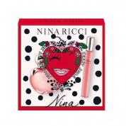 NINA BY NINA RICCI 2 PCS SET: 1.7 EAU DE TOILETTE SPRAY + 0.33 OZ EAU DE TOILETTE ROLLERBALL