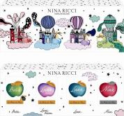 NINA RICCI 4 PCS MINI SET FOR WOMEN: NINA 0.14 OZ EAU DE TOILETTE + LUNA 0.14 OZ EAU DE TOILETTE + LUNA BLOSSOM 0.14 OZ EAU DE TOILETTE + BELLA 0.14 OZ EAU DE TOILETTE