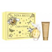 NINA RICCI L'AIR DU TEMPS 2 PCS SET FOR WOMEN: 3.4 EAU DE TOILETTE SPRAY + 3.4 BODY LOTION