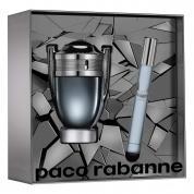 PACO INVICTUS INTENSE 2 PCS SET FOR MEN: 1.7 EAU DE TOILETTE SPRAY + 0.33 EAU DE TOILETTE