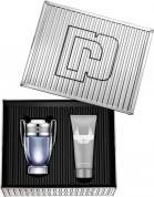 PACO INVICTUS 2 PCS SET FOR MEN: 1.7 EAU DE TOILETTE SPRAY + 3.4 SHOWER GEL (METAL BOX)