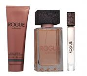 RIHANNA ROGUE 3 PCS SET: 4.2 EAU DE PARFUM SPRAY + 0.2 OZ EAU DE PARFUM ROLLERBALL + 3 OZ BODY LOTION