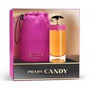 PRADA CANDY 2 PCS SET: 2.7 EAU DE PARFUM SPRAY + TRAVEL POUCH (WINDOW BOX)