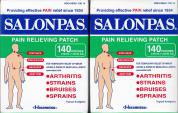 SALONPAS PAIN RELIEVING PATCH 140 PATCHES