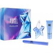 ANGEL 3 PCS SET FOR WOMEN: 0.85 OZ EAU DE PARFUM SPRAY + 1.7 BODY LOTION + 0.6 PERFUMING BRUSH
