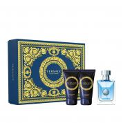 VERSACE POUR HOMME 3 PCS SET: 1.7 EAU DE TOILETTE SPRAY + 1.7 SHOWER GEL + 1.7 AFTER SHAVE BALM