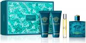 VERSACE EROS 4 PCS SET FOR MEN: 3.4 EDT SP