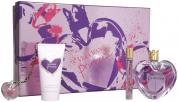 VERA WANG PRINCESS 4 PCS SET: 3.4 EDT SP + 2.5 BODY LOTION + 10 ML EDT ROLLERBALL + 2 G LIP GLOSS CHAIN